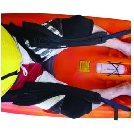 Thigh braces for extra stability in sit on top kayaks