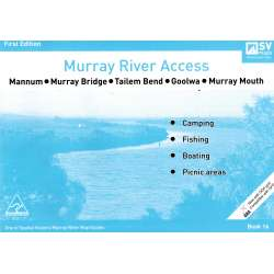 Murray River Access Guide 16 Map Book (Ocean Blue) Mannum to Murray Mouth