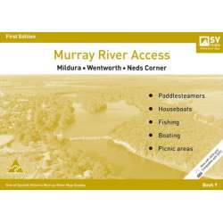 Murray River Access Guide Book 9 Map (Mustard) Mildura - Wentworth - Neds Corner