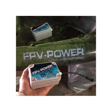 FPV-POWER 7AH KAYAK BATTERY AND CHARGER COMBO