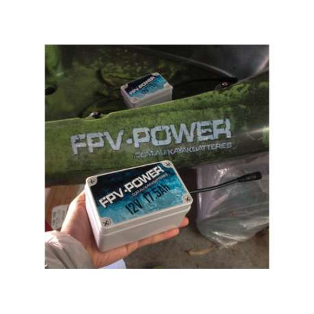 FPV-POWER 17.5AH KAYAK BATTERY AND CHARGER COMBO