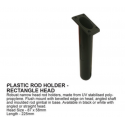 Flush mount rod holder rectangular - Kayak and boat