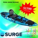 SURGE kayaks FUSION 10 PEDAL FISHING KAYAK - IN STOCK