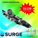 SURGE kayaks VIPER 12 PRO FISHING KAYAK with RUDDER